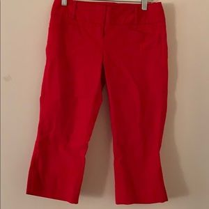 Red Capri Pands